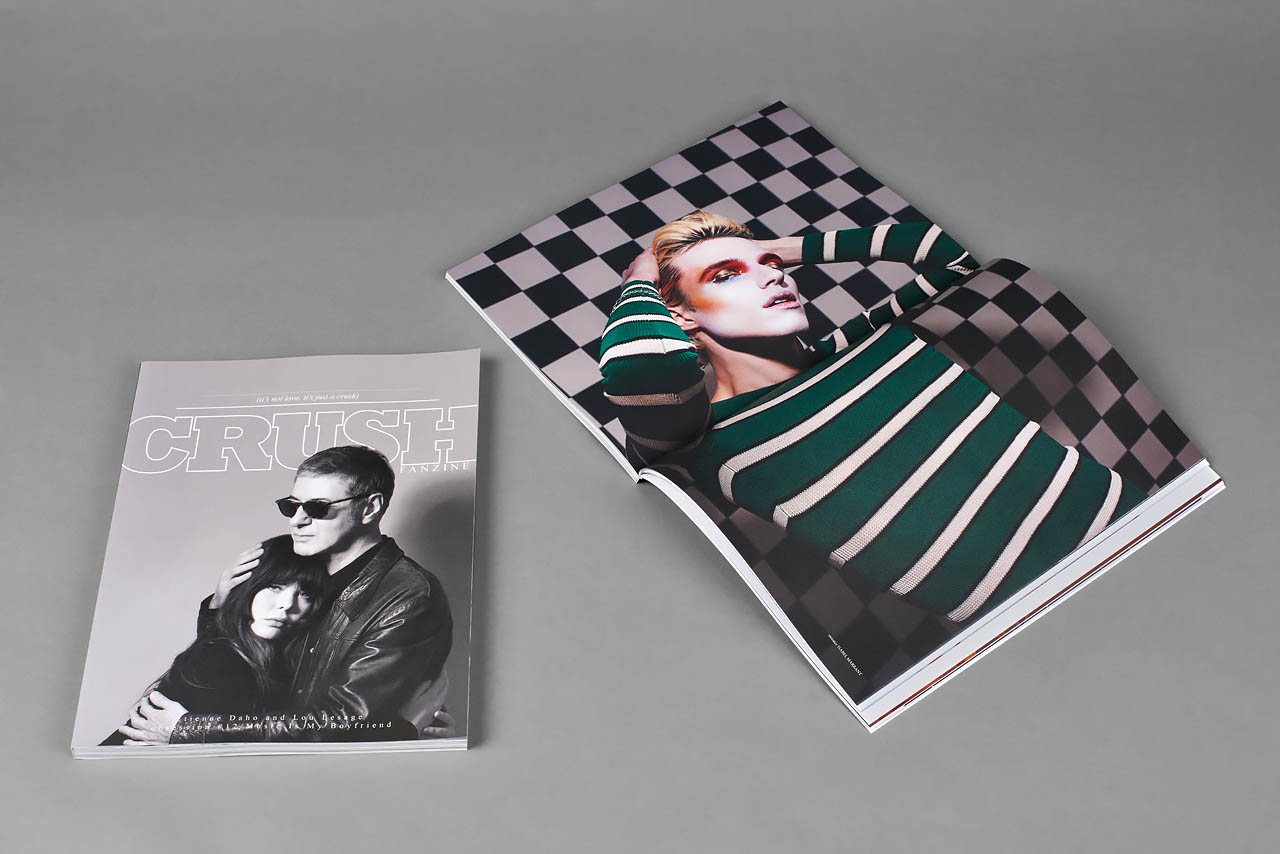 Crush fanzine cover and inside pages