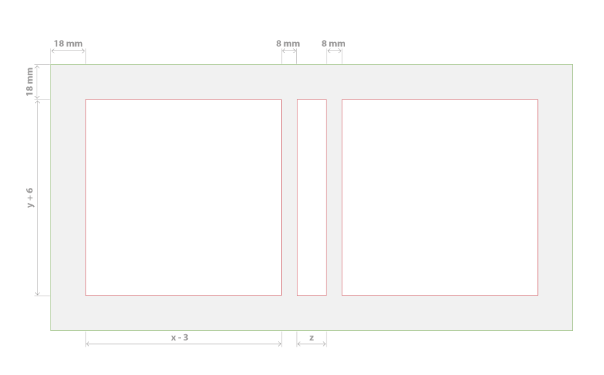 Layout of a hard cover page
