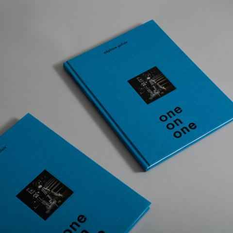 One on one cover blue hardcover book