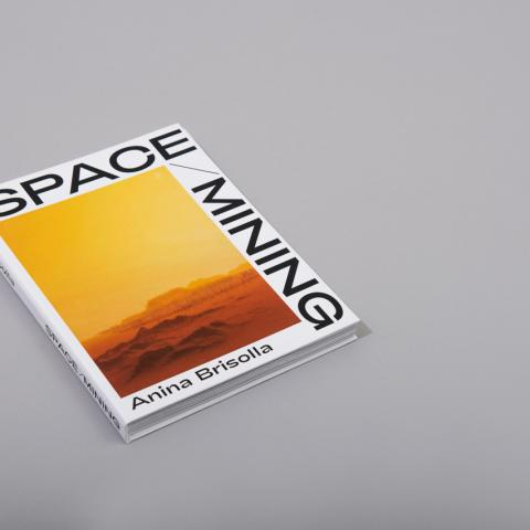 Space Mining open spine hardcover book cover