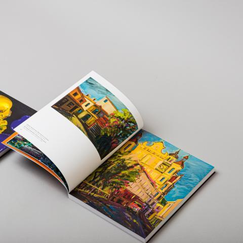 Paintings of Juozas Pranckevicus art book designed by Jurga